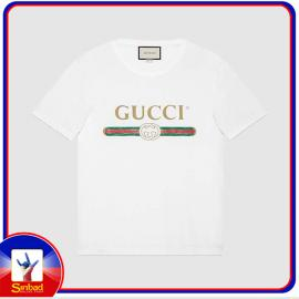 Unisex t-shirt, printed with the Gucci logo- white color