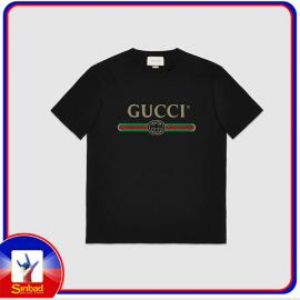 Unisex t-shirt, printed with the Gucci logo- black color