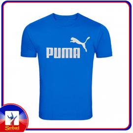 Unisex t-shirt, printed with the puma logo-blue color