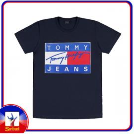Unisex t-shirt, printed with the tommy jeans logo-dark color