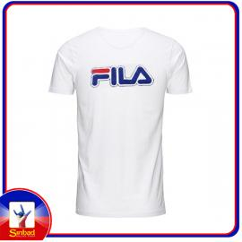 Unisex t-shirt, printed with the fila logo-white color