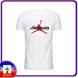 Unisex t-shirt, printed with the air jordan logo -white color