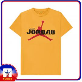 Unisex t-shirt, printed with the air jordan logo -yello color