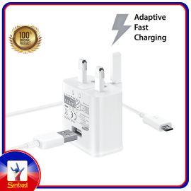 Genuine Samsung Adaptive Fast Charging Home Charger + Micro USB Cable (1.5m)