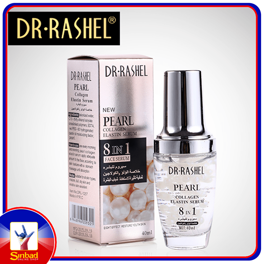 Face serum facial anti aging anti wrinkle anti age sobretudo feminino essence serum face whitening pearl 40ml 8 IN 1 DR.RASHEL