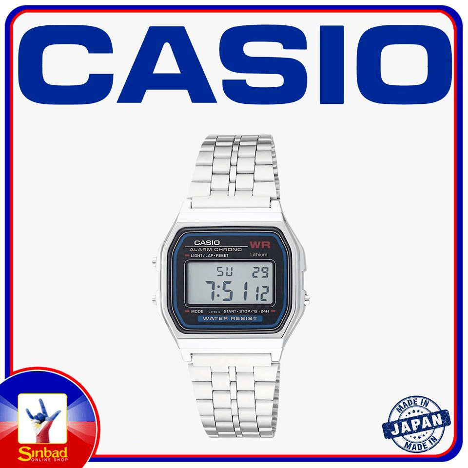 Classic Casio watch Silver made in japan