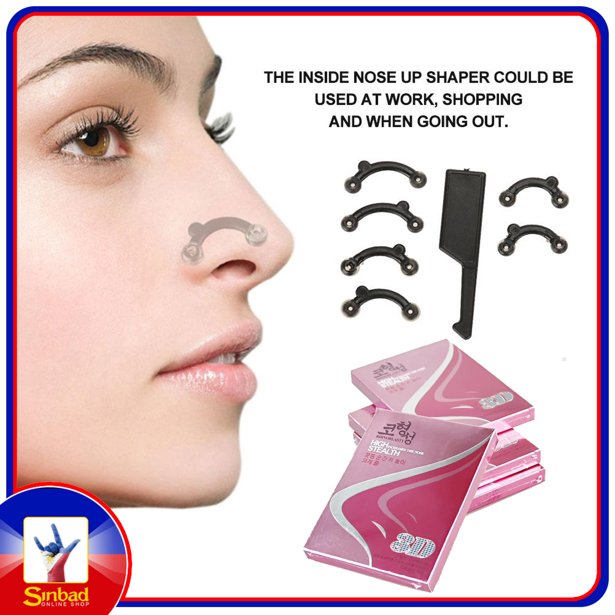 3D Nose Up Device Correction Beauty Tools Stealth Lifting Bridge Shaper Tool No Pain Nose Shaping Clip Massager