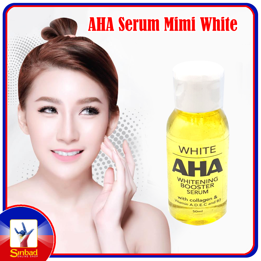 White AHA Whitening Booster Serum With Collagen and Vitamin A.D.E.C and B3 50ml
