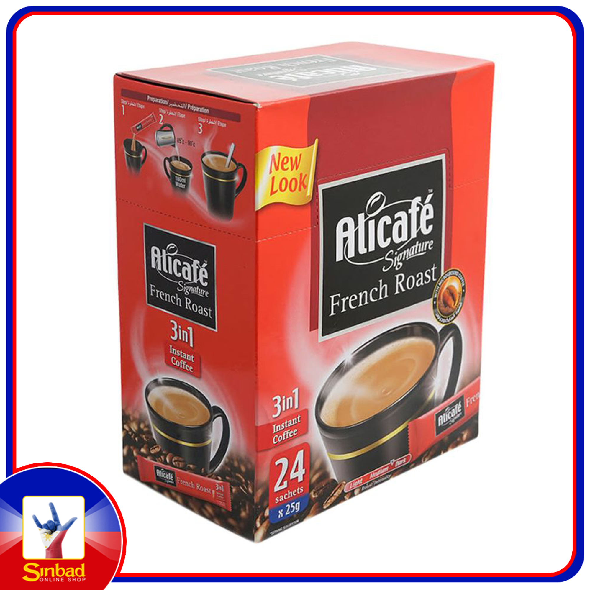 Alicafe Signature 3 In 1 French Roast 25g x 24 Pieces