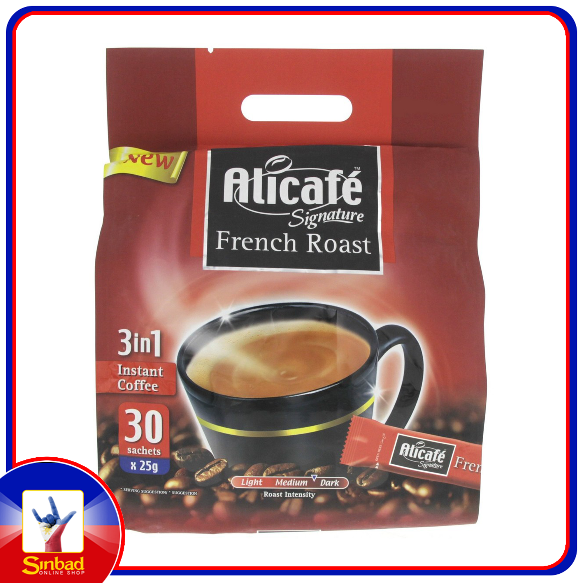Alicafe Signature 3 in 1 French Roast Coffee 30 x 25g