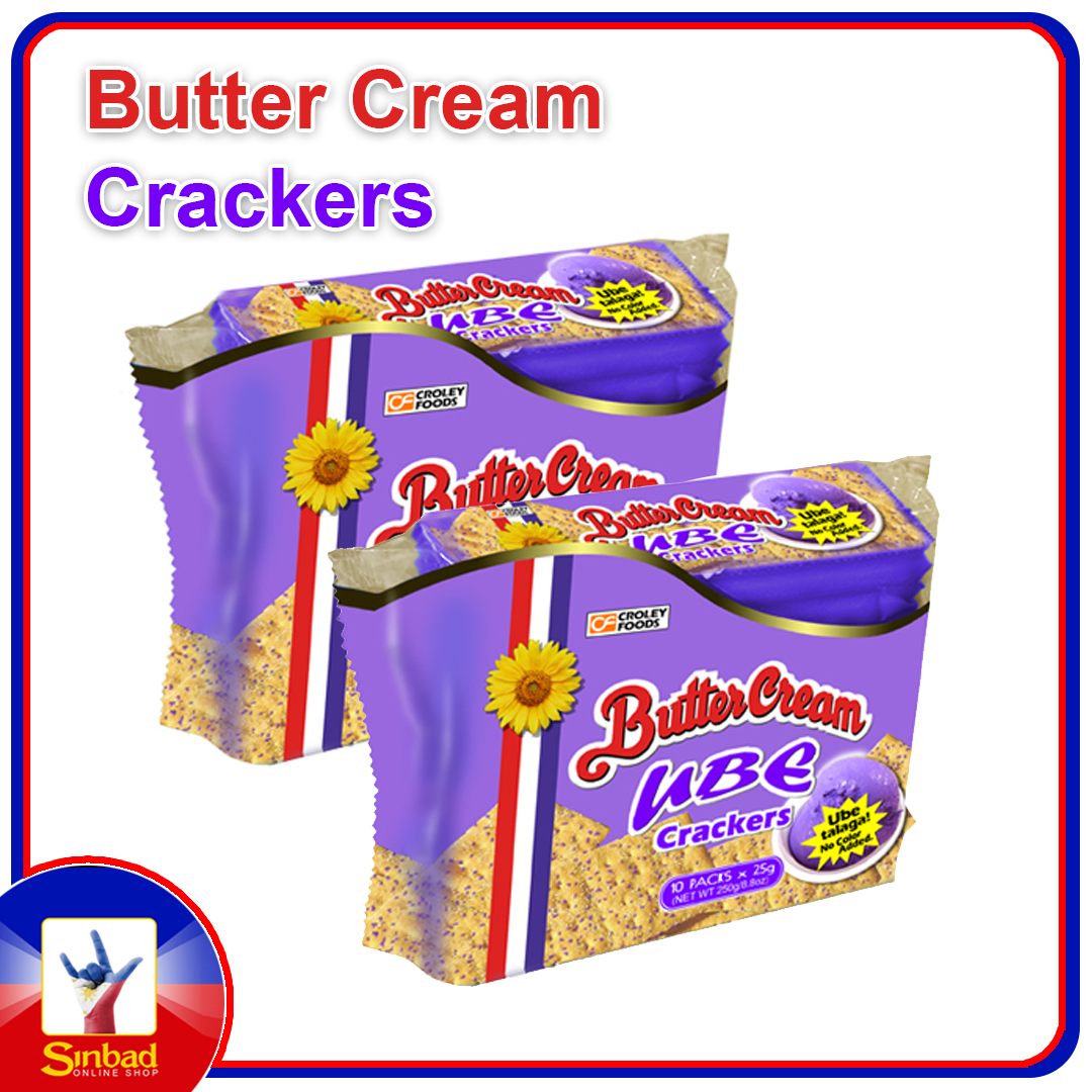 Croley Foods Butter Cream Crackers 10 Packs 250g