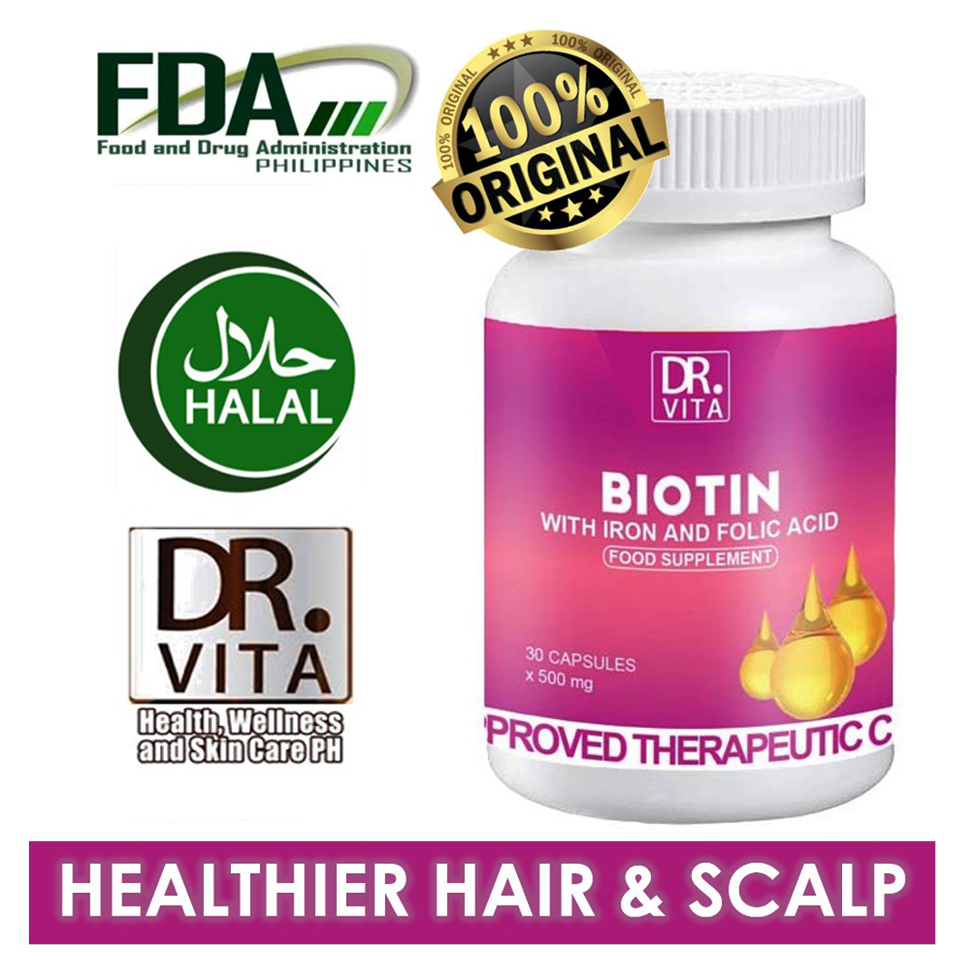 DR. VITA BIOTIN WITH IRON & FOLIC ACID 30 capsules