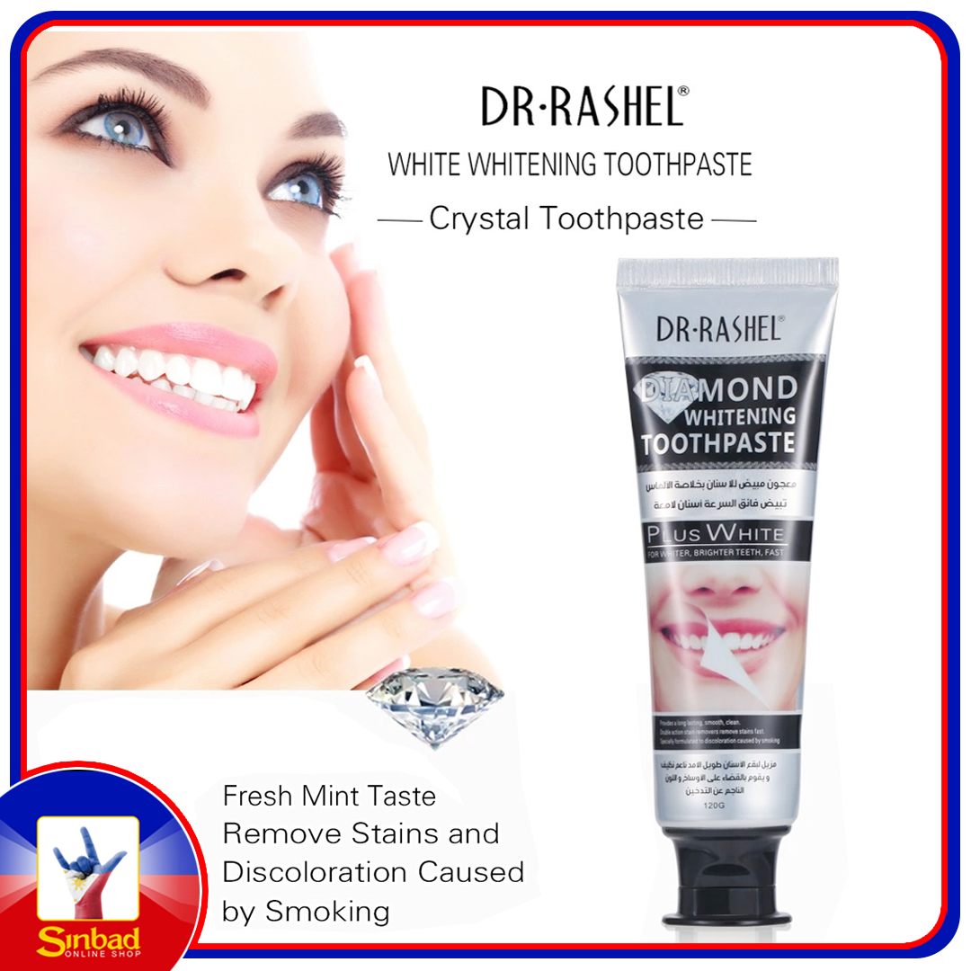 DR.RASHEL Mint Taste Stain Remover Fresh Breath Diamond Whitening Toothpaste 120g