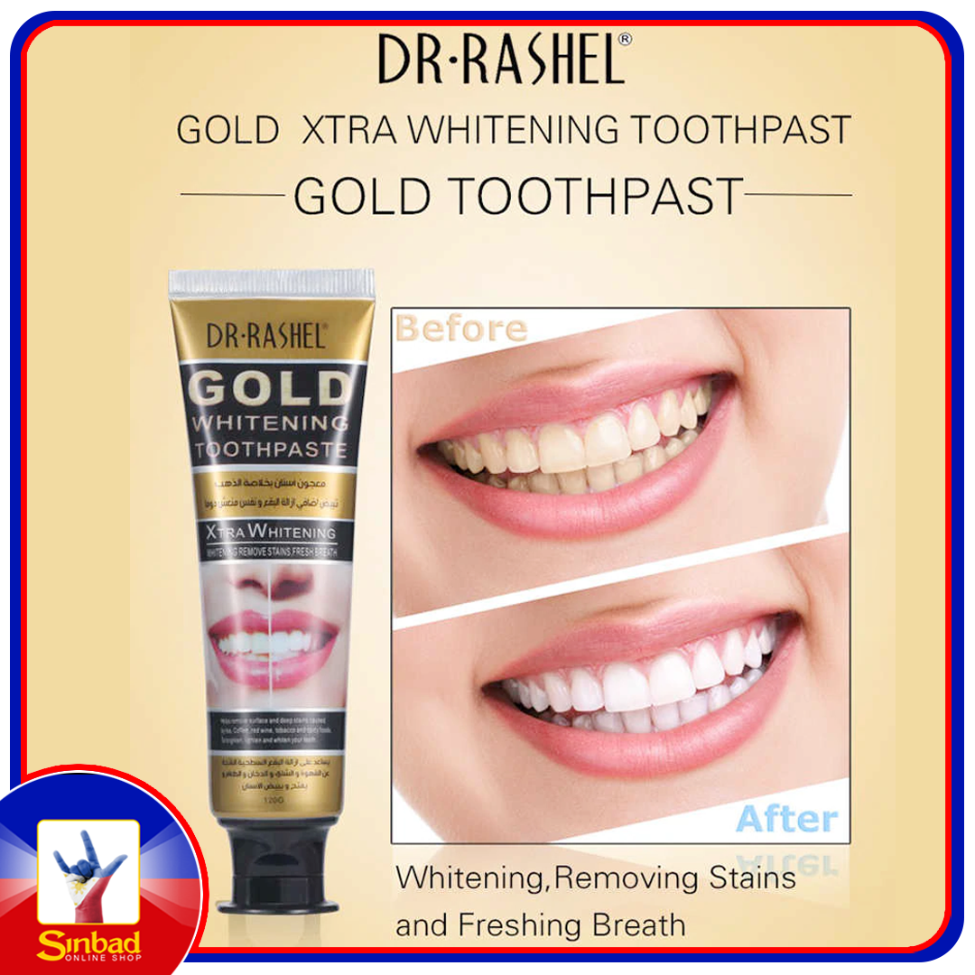 DR.RASHEL Tooth Care Gold Whitening Toothpaste Whitening Removing Stains and Freshing Breath Oral Hygiene Teeth Care 120ml