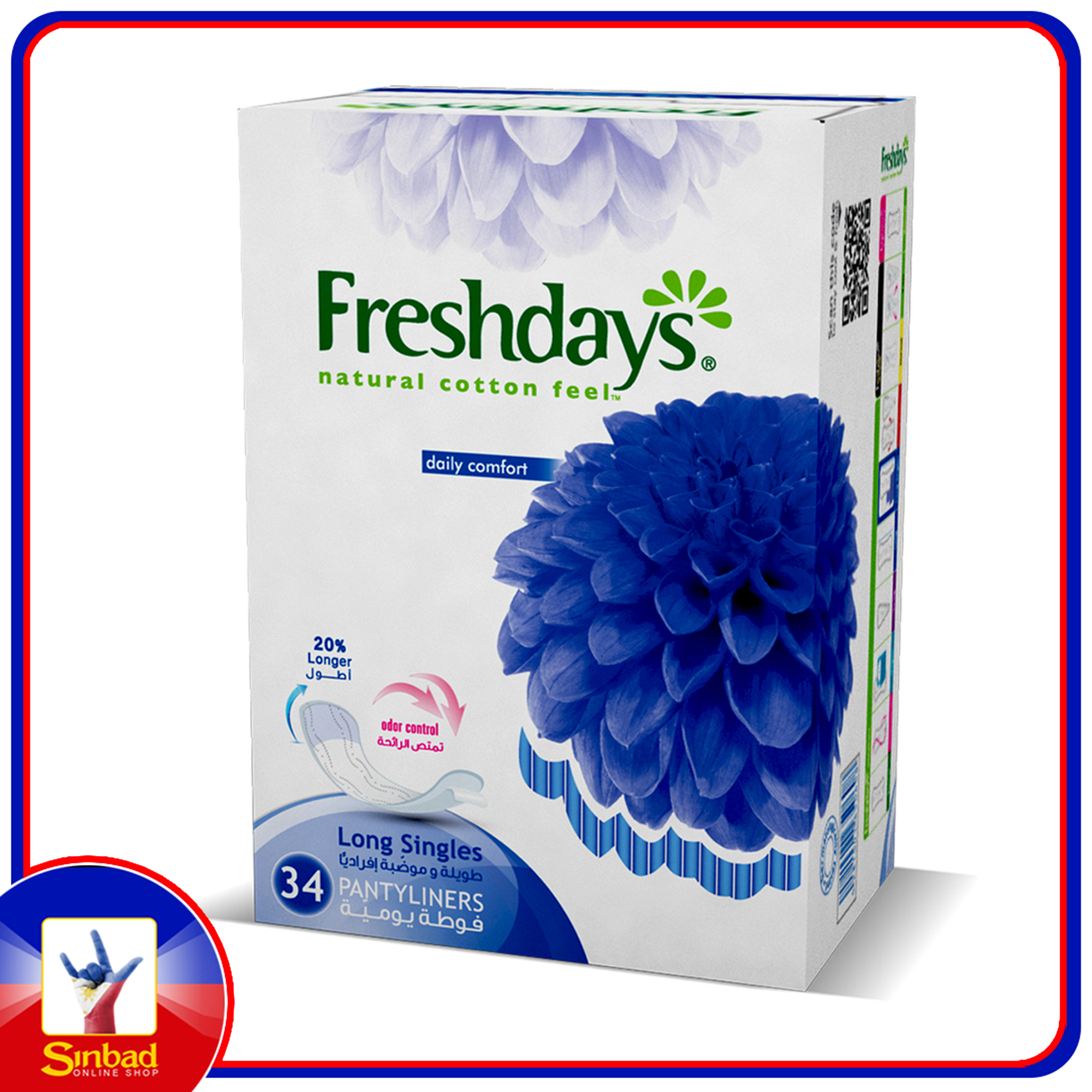 Freshdays Daily Liners Long Single 34pcs