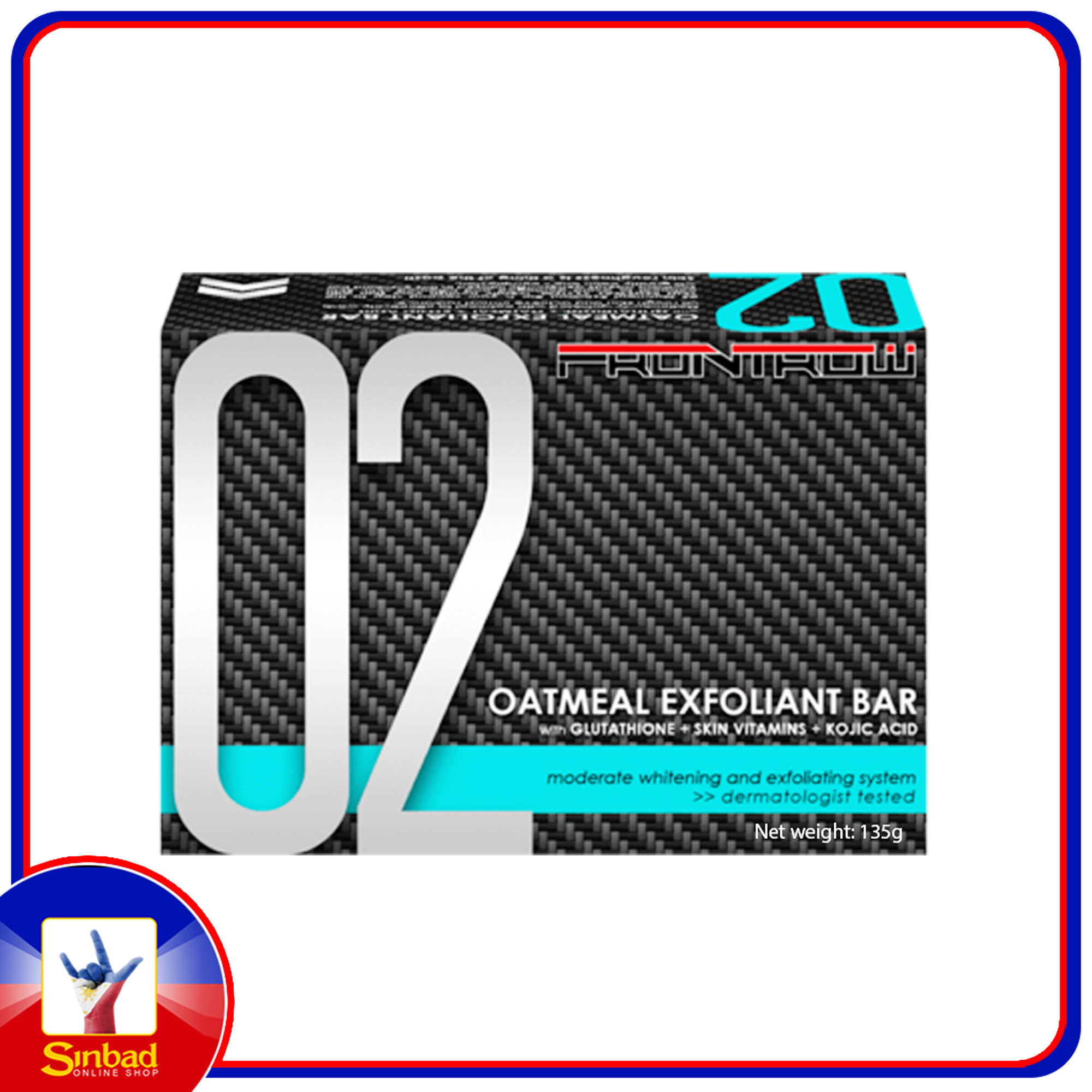 FrontRow 02 Oatmeal Exfoliant Bar with Glutathione + Oatmeal + Kojic Acid