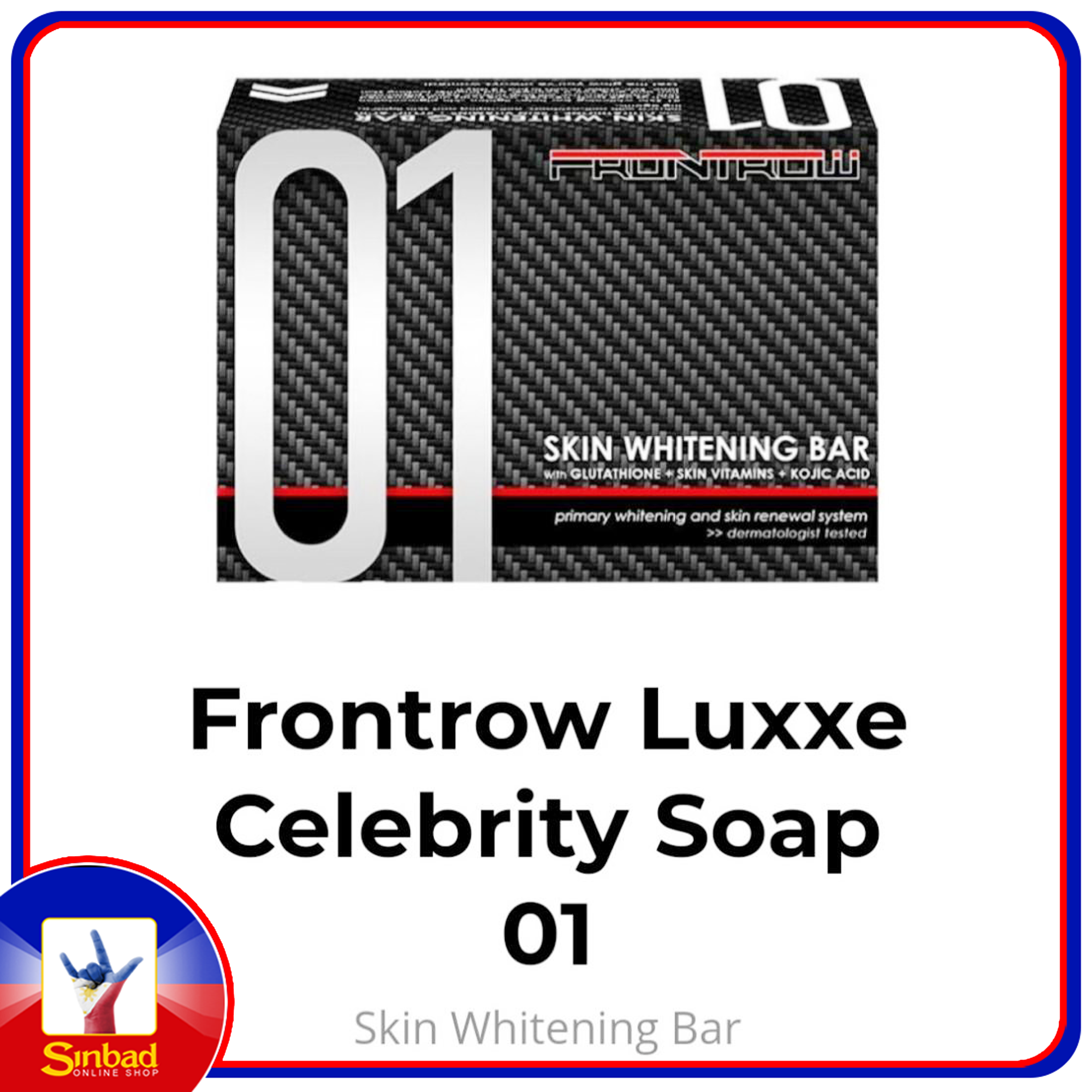 Frontrow Luxxe Skin Whitening With Glutathione + Skin Vitamin + Kojic Acid Soap No. 1