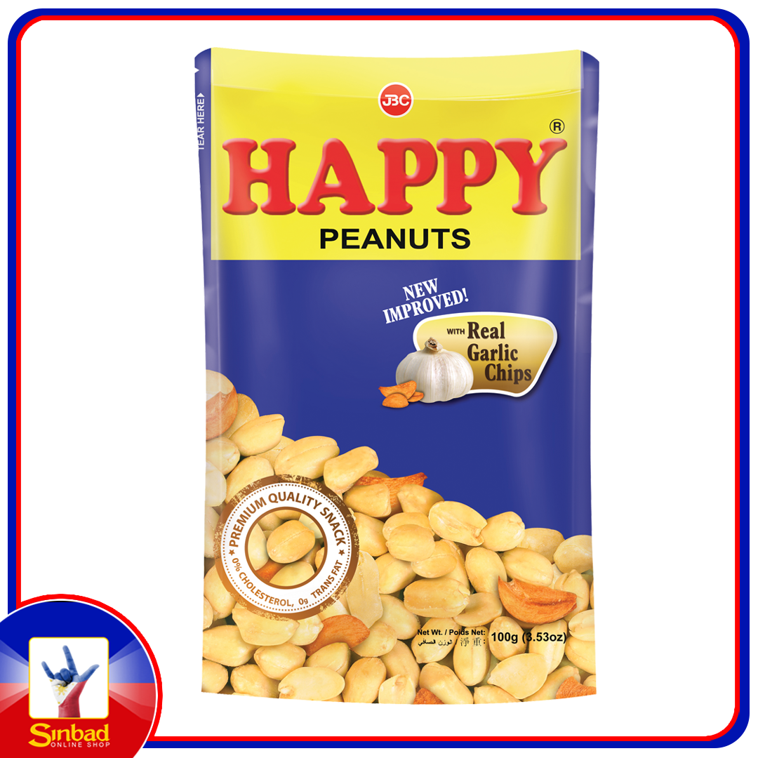 Happy Peanuts With Real Garlic Chips 100g