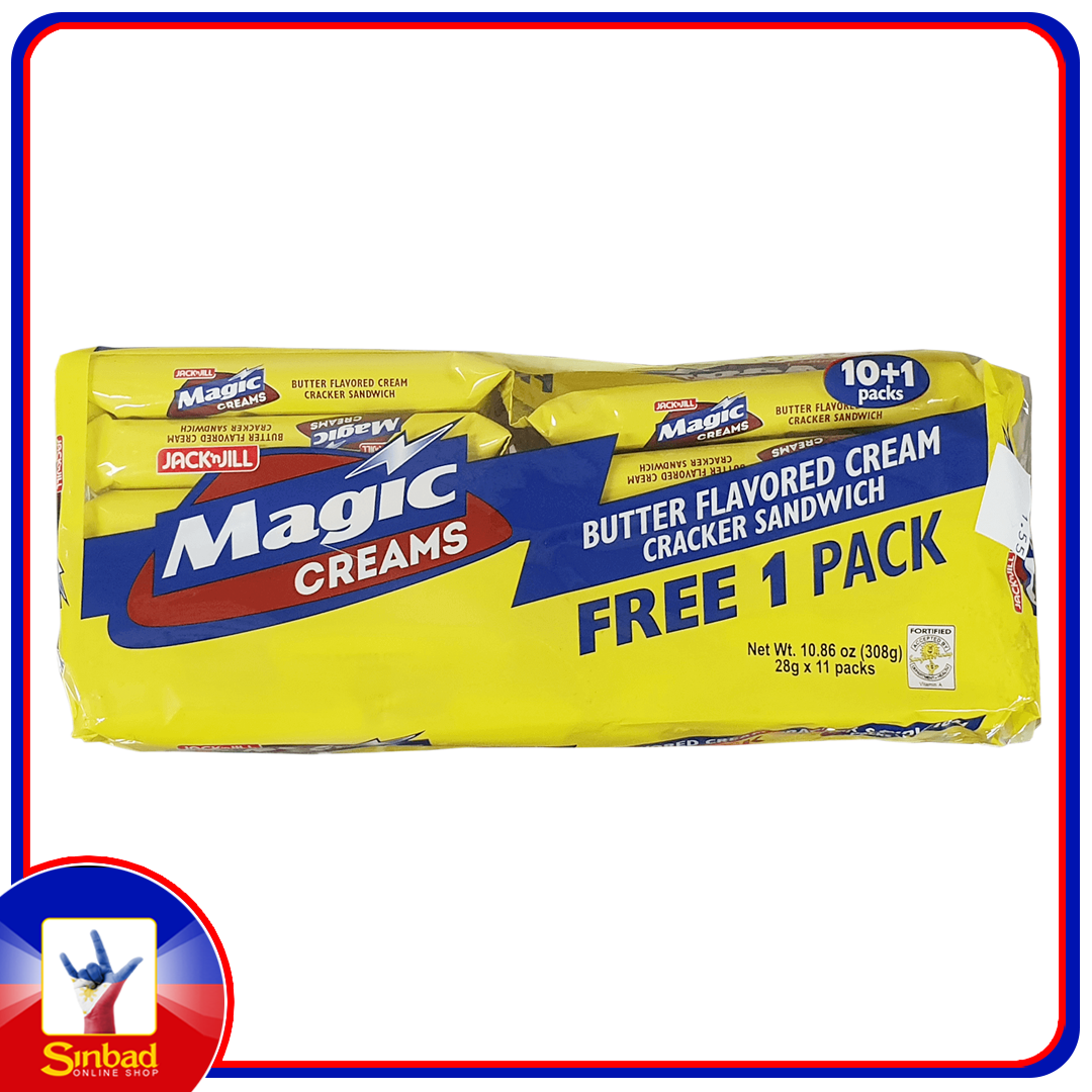 Jack'n Jill Magic Creams Butter Flavored Cream Cracker Sandwich 308g