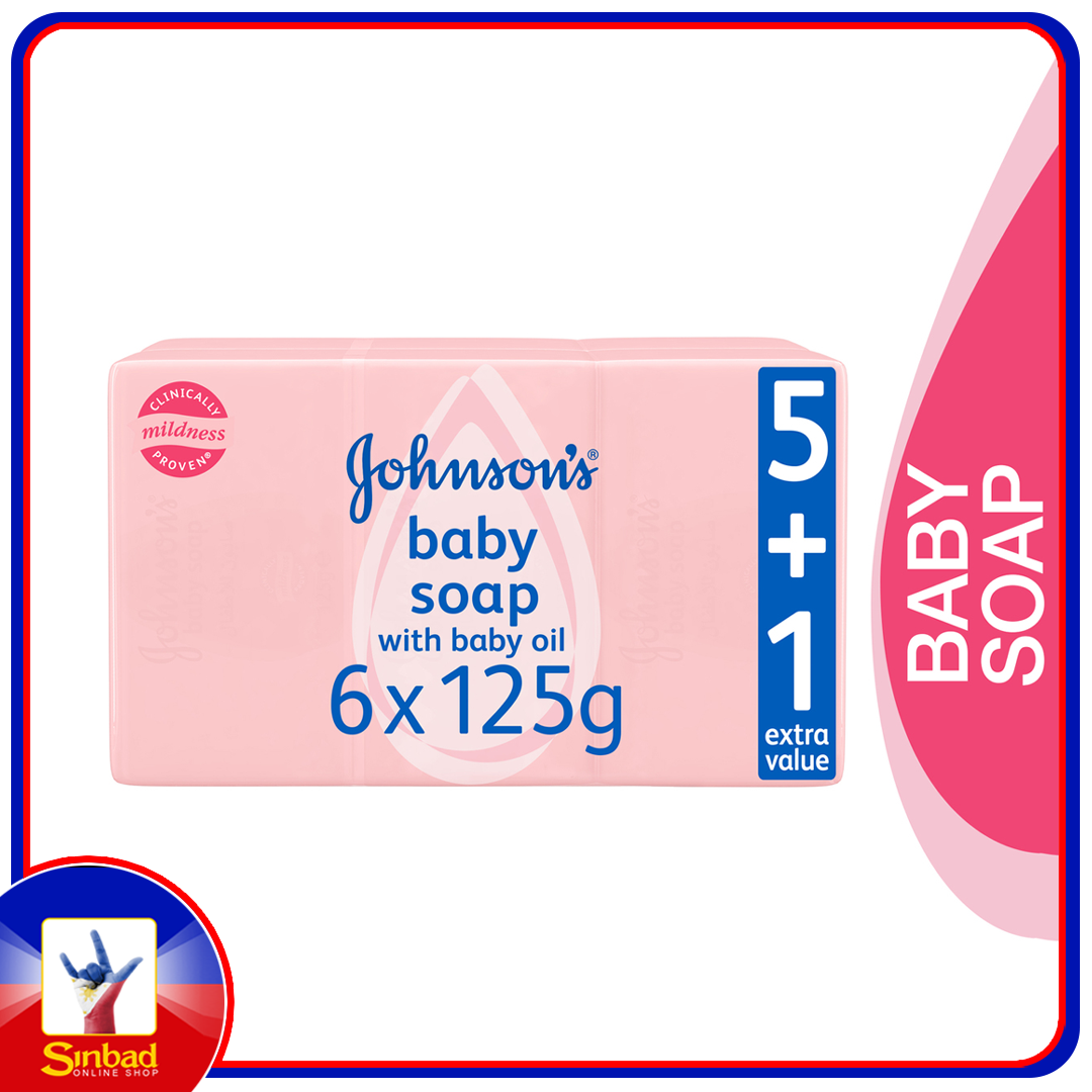 Johnson's Baby Baby Soap with Baby Oil 6 x 125g