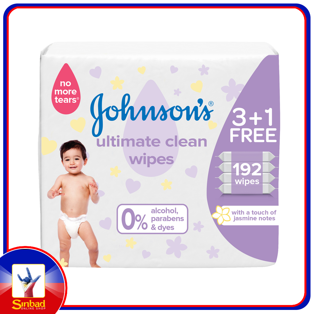 Johnson's Baby Wipes Ultimate Clean 192pcs