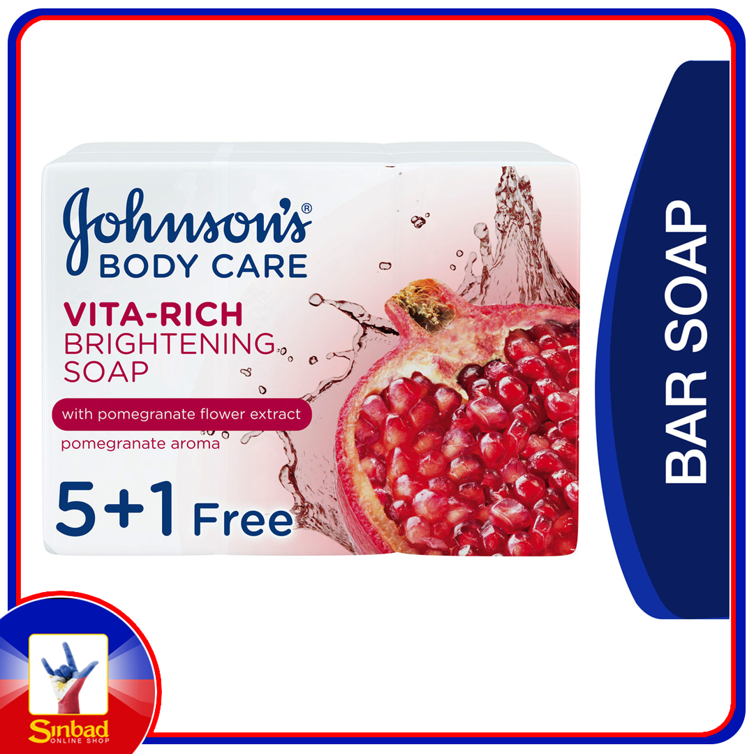 Johnson's Body Soap Vita-Rich Brightening 6 x 125g