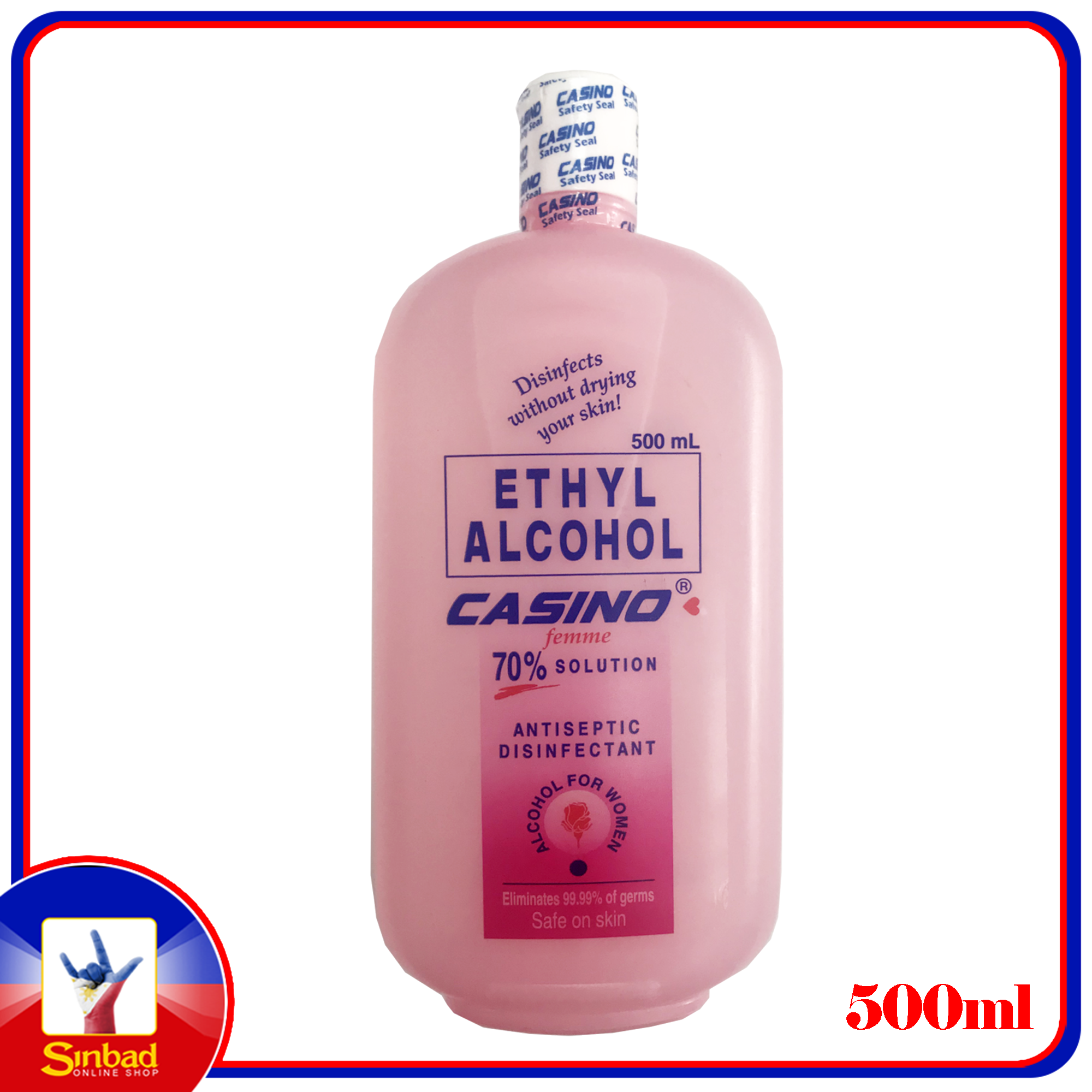 casino ethyl alcohol 70 solution antiseptic disinfectant 500ml - Alcohol For Women