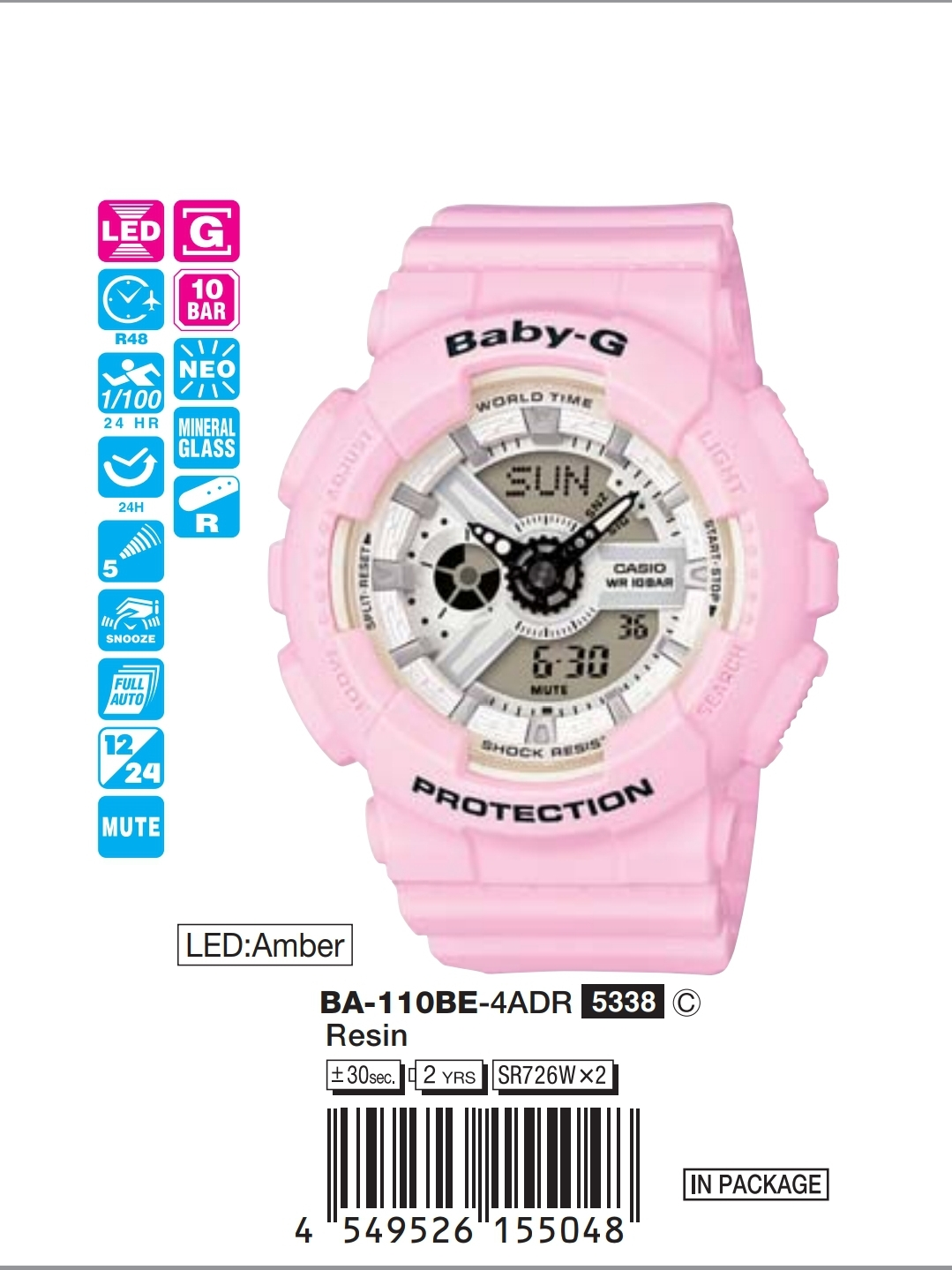 Baby-g watch original