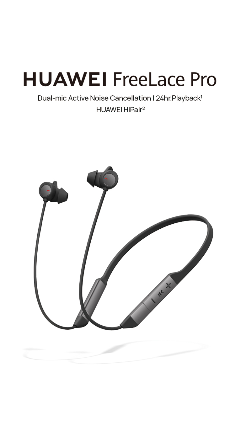 Huawei Freelace Pro Neckband Bluetooth Earbuds with ANC - The Best