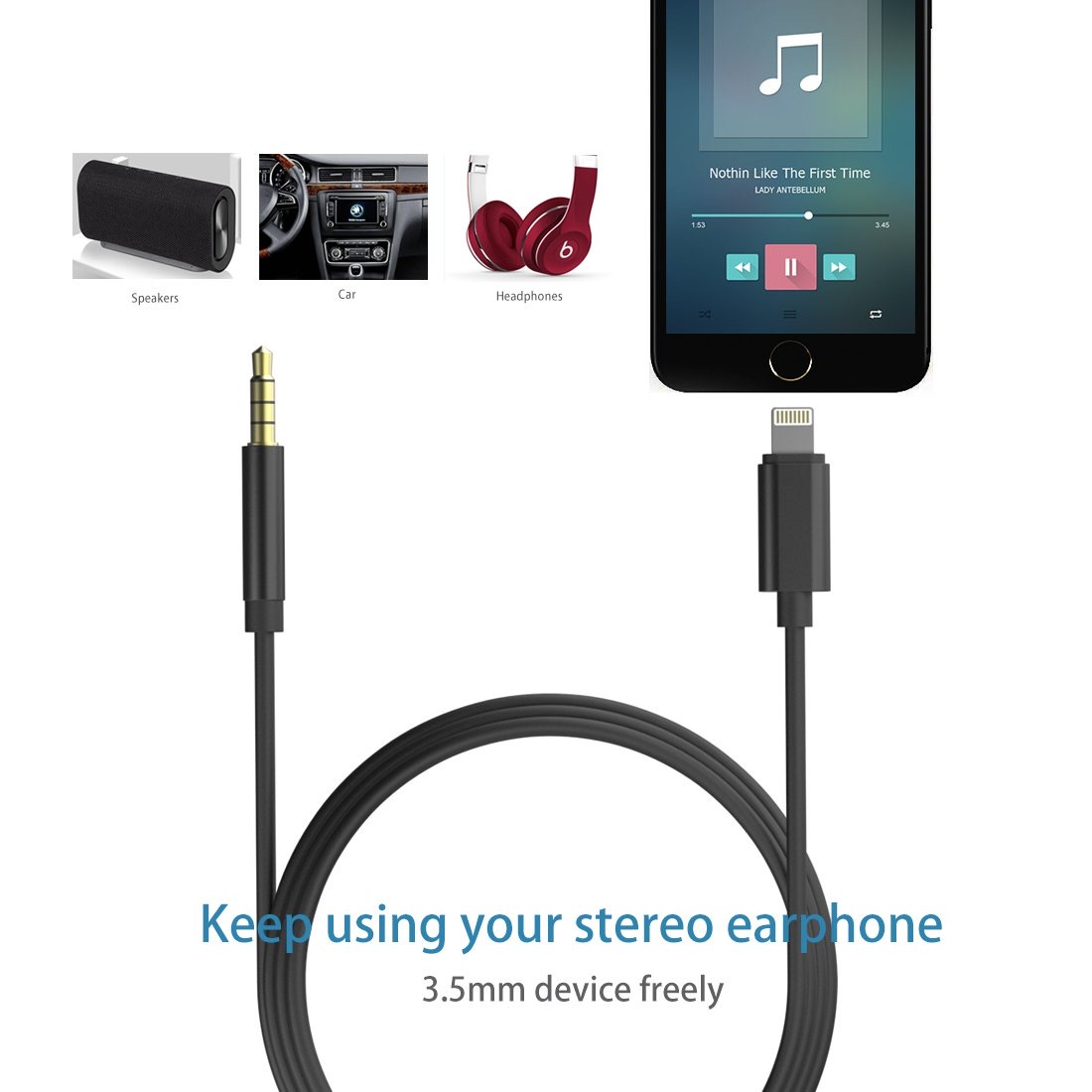Car Aux Cable for iPhone