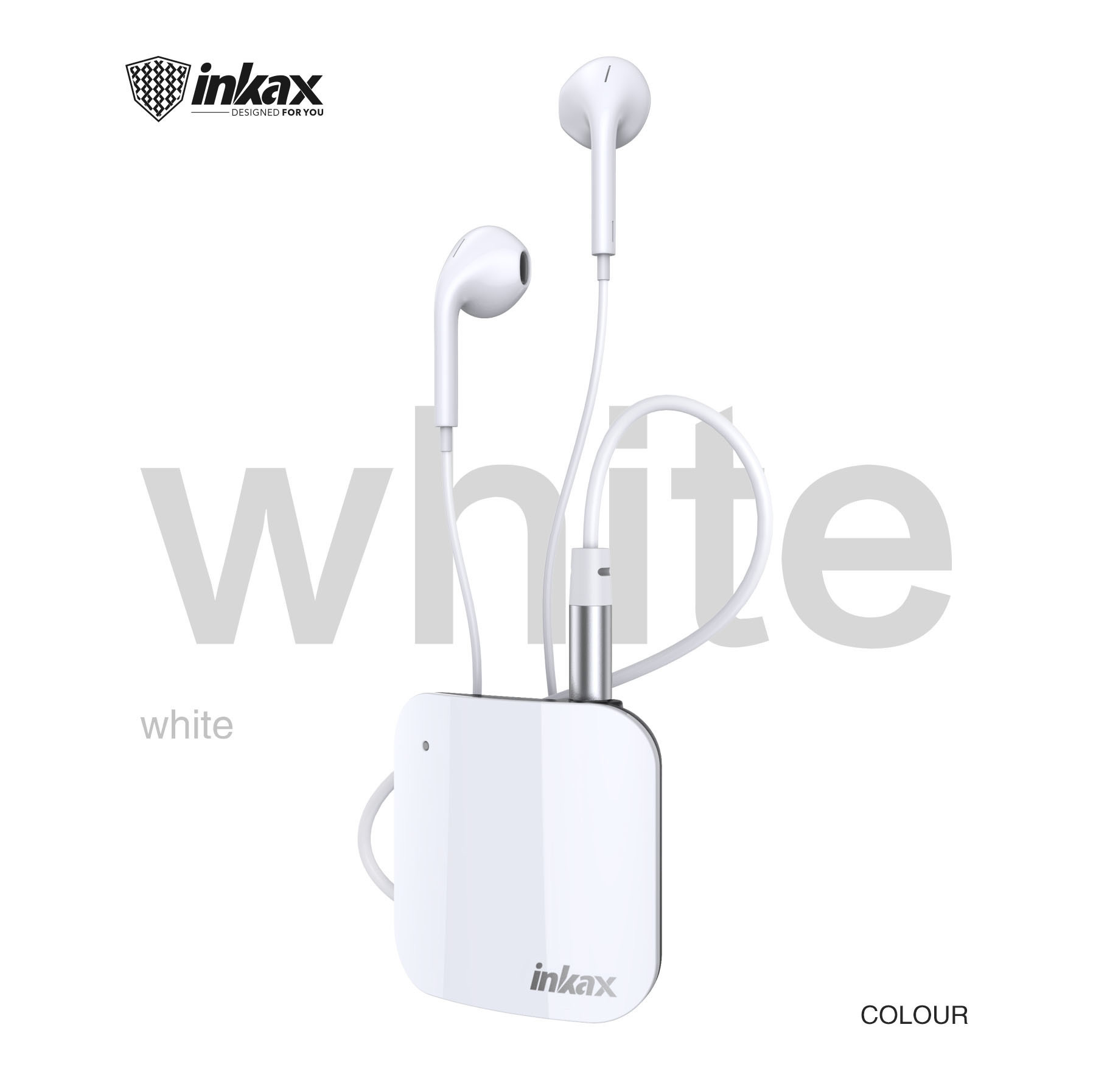 Inkax HP-12 Wireless Headset - White